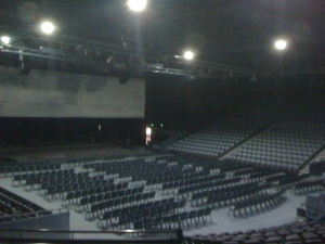 The auditorium at Hillsong Convention Centre - at weekends this is pumping with people!