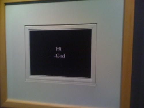 Hi - God